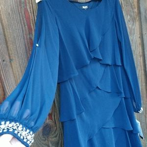 Mother of the Bride Groom dress midi layered NWT